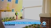 Man steals electrical panels from homes in Jurupa Valley