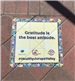 Sidewalk Sticker with Inspirational Quote