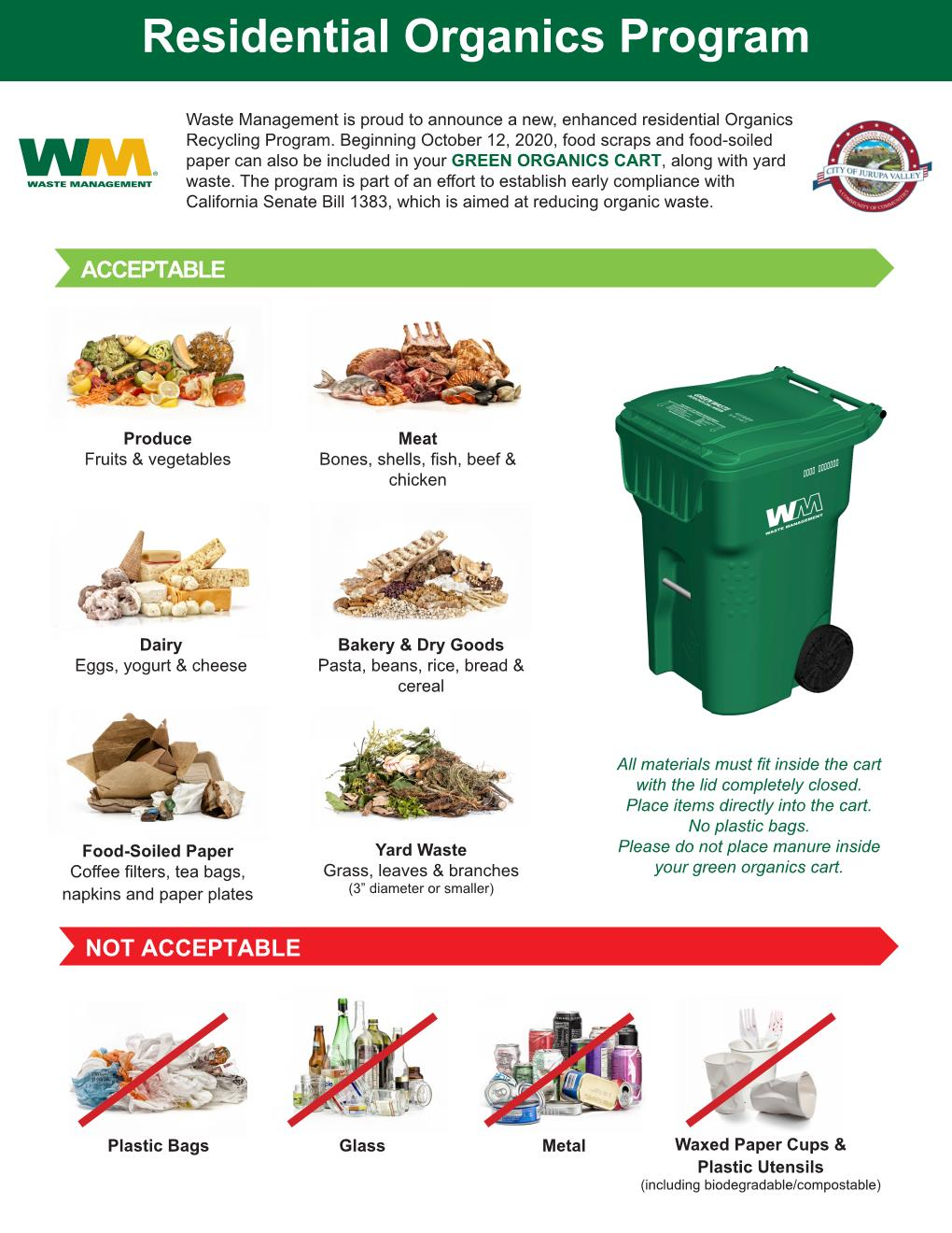 WM Jurupa Valley Organics Flyer