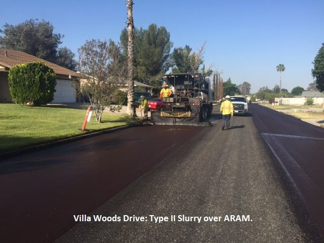 Villa Woods Drive being repaved