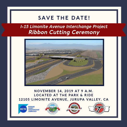 Save The Date Limonite Interchange Ribbon Cutting Ceremony
