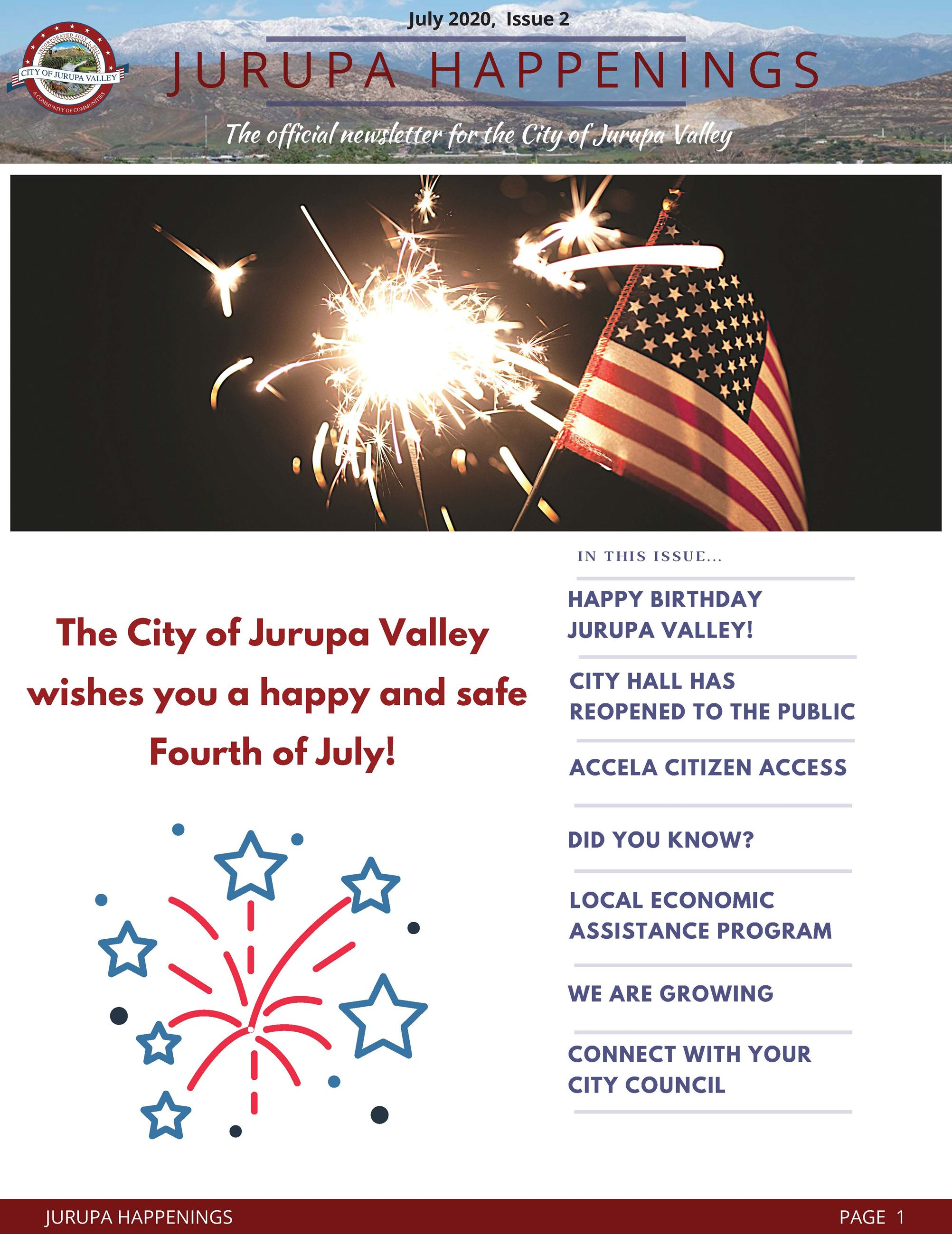 Jurupa Highlights eNewsletter - issue 2 July 2020 Opens in new window