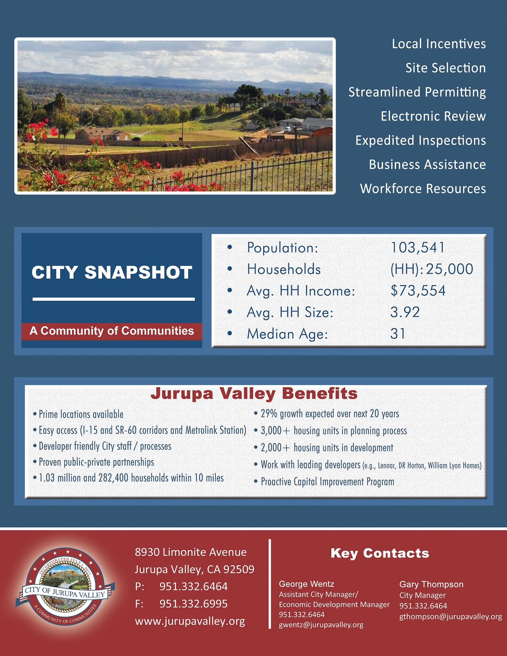 City of Jurupa Valley - A Community of Communities Seal